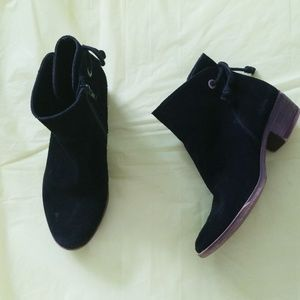 LUCKY BRAND lkbwenore black suede ankle boots
